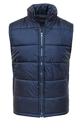 Evoga Smanicato Piumino Uomo Comfort Invernale Casual Gilet Giubbotto Impermeabile (m, Blu)
