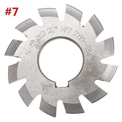 ExcLent Modul 2 Durchmesser 22Mm 20Grad #1-8 Hss Involute Zahnradfräser - #7