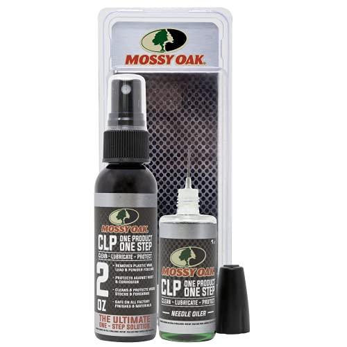 Mossy Oak Gun Oil Combo Kit | Cleaner, Lubricant, & Protectant [CLP] | One-Step Gun Cleaner and Gun Oil Lubricant | 2oz. Fine Mist Pump Sprayer & 1 oz. Needle Oiler of CLP Gun Cleaner and Lubricant