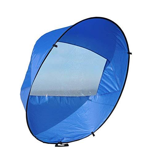 """SparY Grande 42"""" Kayak Viento Vela Paleta, Canoa Instant Vela Juego, Plegable a Presión Tabla Viento Paleta para Kayaks,Canoas,Inflables,Tándems - Azul, 108x108cm"""