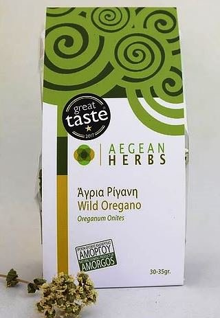 Orégano Salvaje / Wild Oregano / Oreganum Onites 30-35gr, Set of 4 - Natural Farming Product Of Amorgos