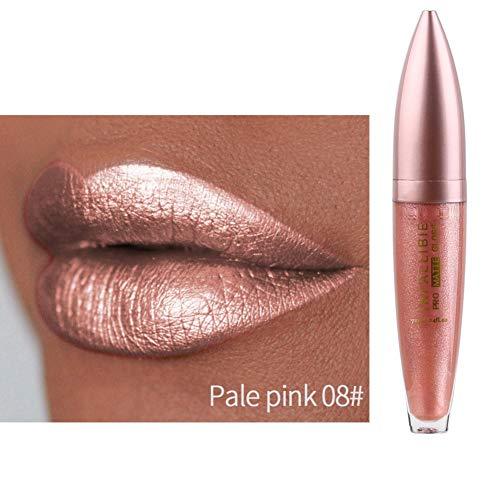 Metallic Liquid Lipsticks, ROMANTIC BEAR Long Lasting Waterproof Shimmer Pearlescent Colorful Lip Gloss 12 Farben