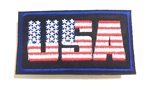 American USA patchs Cool Stickers Iron on Clothing Accessory for Men Women Unisex Accessories Jean Jackets Hats Backpack Shirt Fashion Design Style Patches for Jeans Hats Jacket Patch and More (USA)