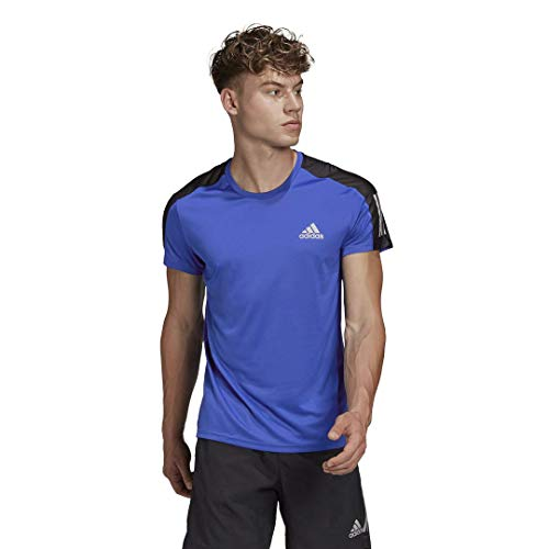 adidas Men's Own The Run Tee, Team Royal Blue/Reflective Silver, XX-Large