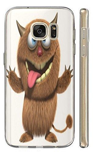 Hülle für Samsung Galaxy S4 Mini i9190 i9195 Hülle Softcase TPU Handyhülle für Samsung S4 Mini i9190 i9195 Cover Backkover Schutzhülle Slim Case (110 Teufel Braun)