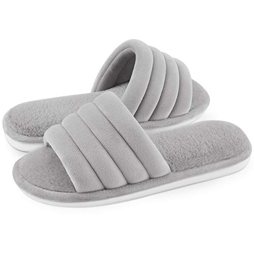 Open Toe Womens Slippers Fuzzy House Shoes Now $13.59 (Was $19.99)