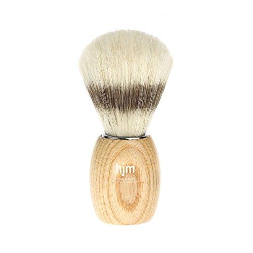 HJM pennello da barba in pura setola, materiale manico in legno di frassino naturale
