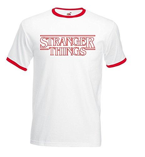 Fruit Camiseta Stranger Things Vintage Ringer Premium Algodon...