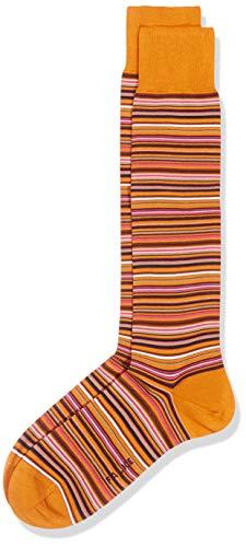 FALKE Herren Kniestrümpfe Microblock - 91% Baumwolle, 1 Paar, Orange (Mandarin 8216), Größe: 43-44
