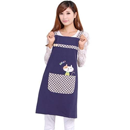 TJLSS Delantal Lindo Mujer Adulto Ropa de Trabajo, algodón diseño de Moda Cocina Cocina
