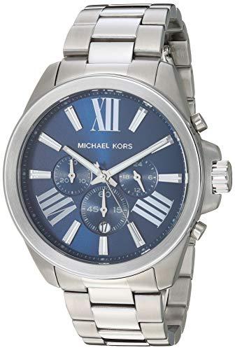 Michael Kors Men's Wren Quartz Watch with Stainless Steel Strap, Silver, 22 (Model: MK8765)