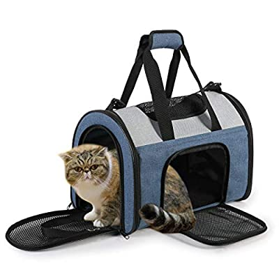 JESPET Soft Pet Carrier for Travel, Portable & Lightweight Carrier Bag for Cat, Dog, Puppy, Small Animals