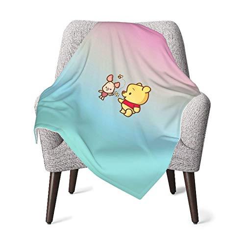 Manta de bebé unisex Winnie The Pooh franela súper suave o manta mullida, manta de recepción para bebés o recién nacidos para cuna, manta de invierno, cochecito, viajes, al aire libre, decorativa