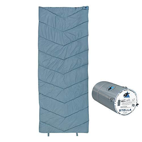 10T Schlafsack STELLA -7° warm weich 1200g leicht XL Deckenschlafsack 200x80 Blau / Grau