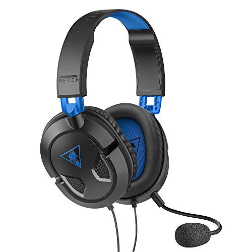 Turtle Beach Recon 50P Auricolare di Gioco, Nero/Blu - PS4 e Xbox One