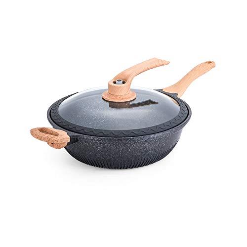 ZLDGYG Non Stick Frying Pan ménages multi fonction électromagnétique fond plat Four Cuisinière gaz de cuisson approprié Wok Pan