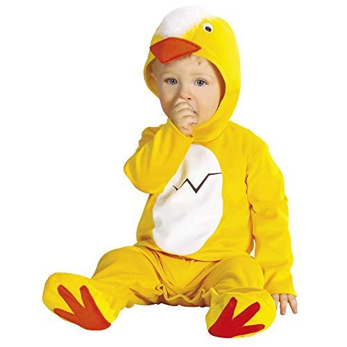Widmann - Cs805120 - Costume Bebe Poussin Combi + Coiffe 90 cm (1/2ans)