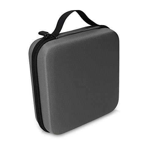 kwmobile Aufbewahrungstasche für Tonies - aus Nylon - Tonies Transportbox für bis zu 20 Tonie Figuren - Hartschale Box in Anthrazit