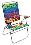 Rio Brands Rio Hi-Boy High Seat 17' Folding Beach Chair, Neon