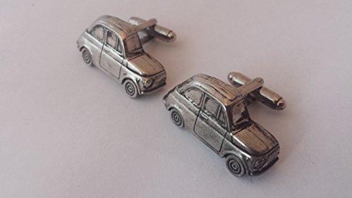 FIAT 500 3D Boutons de manchette fabriqué à partir de fin anglais en étain