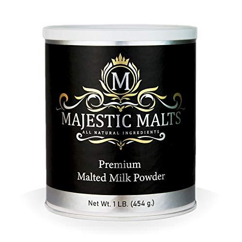 Majestic Malts Malted Milk Powder Mix for Milkshakes and Baking, 1 lb.