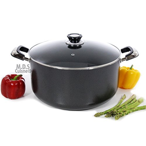 Dutch Oven 18Qt Non Stick Heavy Gauge Aluminum Big Large Casserole Pot...