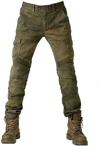 Alpha Rider Motorradhose Herren Jeans Textil Motorrad Hose mit Protektoren Armee Grün XXL