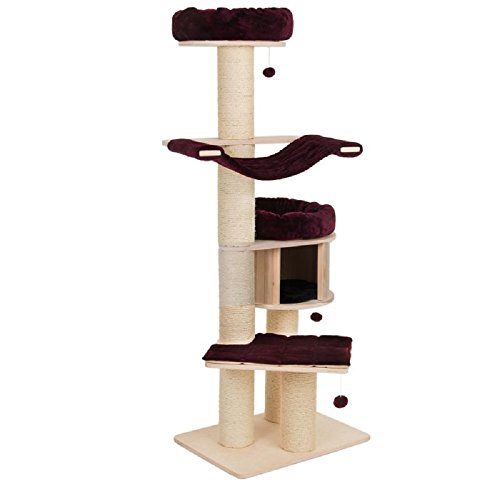 PaylesswithSS Árbol grande para gatos natural – XL (chocolate)