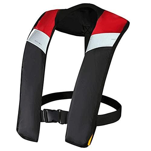 Chaleco salvavidas inflable, chaleco de vida inflable automático/manual para adultos,Rojo