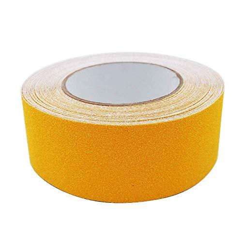 Gebildet Premium Qualität Antirutsch Klebeband 10m × 5cm, Antislip selbstklebend Band, Grip Tape Sicherheitsband fur Treppen/Schritte (Gelb)