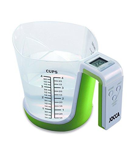 Jocca 7127 Báscula con jarra medidora, color verde