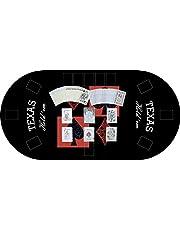 Tapete Poker Antideslizante Oval Texas Hold´em Negro PVC Varias Medidas |Tapete Poker Mesa PVC| Tapete vinilico para Mesa|Poker Texas Hold´em Negro