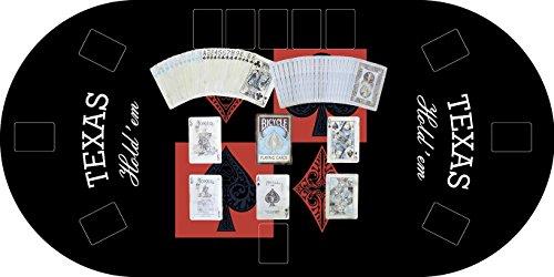 Oedim Tapete Poker Antideslizante Oval Texas Hold´em Negro PVC 120 cm x 60 cm | Tapete Poker Mesa...