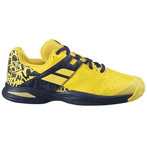Babolat Junior Propulse All Court Tennis Shoes, Lemon Chrome (US Size 7)