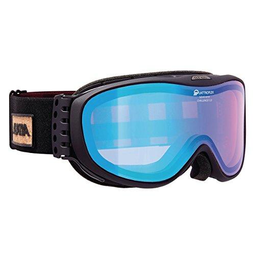 ALPINA Challenge S 2.0 Skibrille, Black Matt, One Size