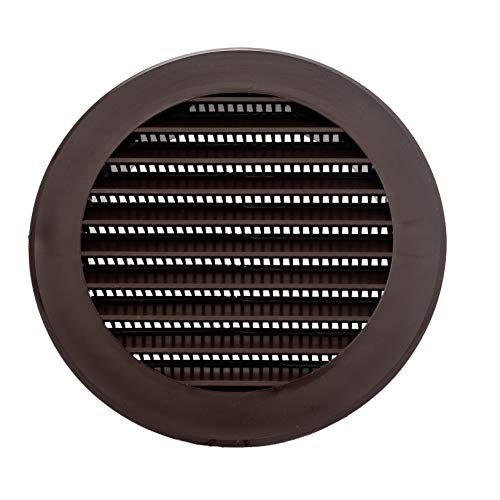 Vent Systems 4'' Inch Soffit Vent Cover - Round Air Vent Louver - Grill Cover - Built-in Insect Screen - HVAC Vents for Bathroom, Home Office, Kitchen - Multi-Pack (1)