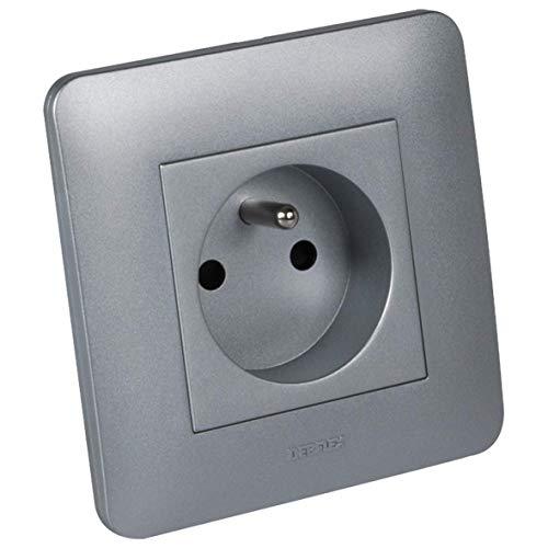 DEBFLEX – Gama Casual Completa/Enchufe 2P + T Full – Aluminio