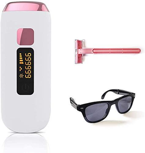ETE ETMATE IPL Laser-Haarentferner mit 999999 Blitzen Permanentes Laser-Haarentfernungsgerät für Gesicht, Achselhöhlen, Arm, Brust, Rücken, Bikinizone und Beine