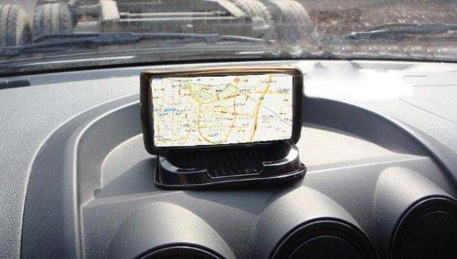 Silicone Car Non-slip Dash Mat Dashboard Phone Coin Sunglass Pad Holder for Iphone 4 4s 5 Cellphone Mobile PDA Mp3 Mp4 GPS Black