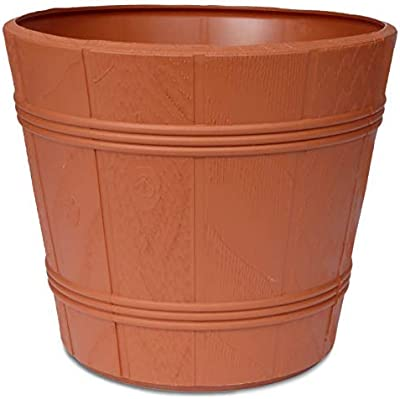 YOUniversal Products Medium Round Terracotta Plastic Flower Pot