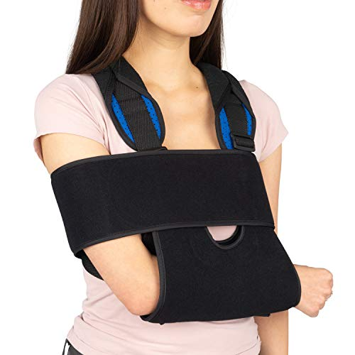 Arm Sling Brace Shoulder Immobilizer (Black) - Small
