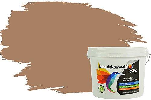 RyFo Colors Bunte Wandfarbe Manufakturweiß Treibholz 3l - weitere Braun Farbtöne und Größen erhältlich, Deckkraft Klasse 1, Nassabrieb Klasse 1