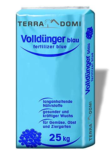 Terra Domi Volldünger Blaukorn Classic, optimaler Herbstdünger für Ihren Rasen, 25 KG NPK (8-8-8), Sommer, Herbst, Frühling, 500m²