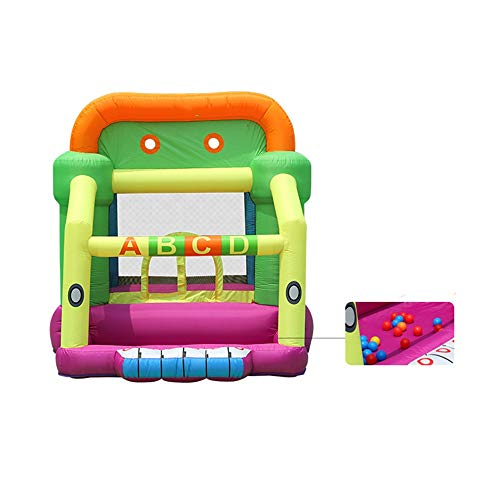 Best Bargain Jdeepued Inflatable Bouncer Inflatable Bounce Castle House Outdoor Bounce Castle with L...