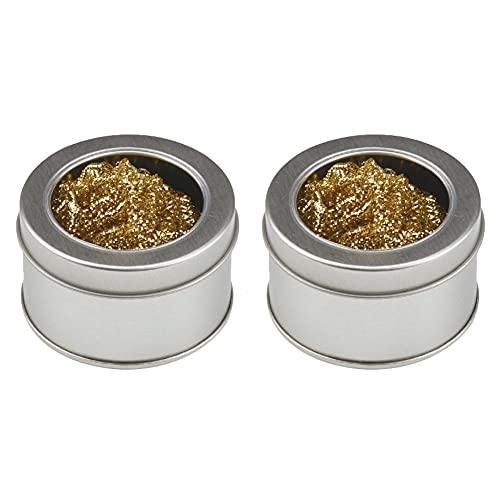 Herramientas de soldadura de hierro limpiador de puntas de alambre de cobre de la bola de soldadura de limpieza que limpia la herramienta de 2 piezas de bricolaje industriales