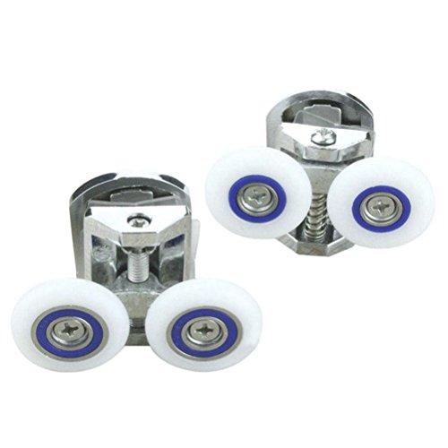 VORCOOL Lot de 1 Paire de Rechange 25 mm Douche Porte Supérieure Inférieure Roulette Défilement de Rouleaux de Guidage