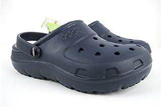 6780b218b5 Crocs Jibbitz Presley Lined Roomy Fit Dual Comfort 2 Navy Clogs Size 6