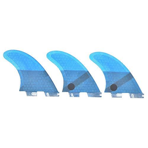 DAUERHAFT Elegante Aleta de Cola de Tabla de Surf Azul FCS2 de Fibra de Vidrio, Aleta de Surf Estable Flexible, Accesorio de Surf, para Tabla de Surf