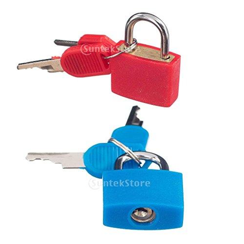 #N/A 2 X Padlock W. Keys Suitcase Luggage Bag Safety Locks for Travel