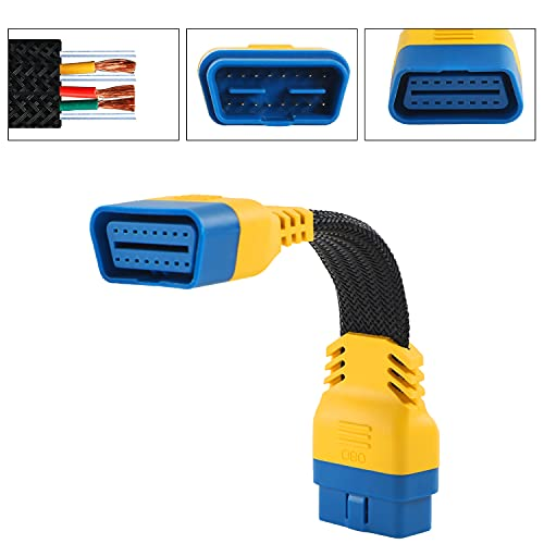 PLAYOCCAR OBD-II Cable de Extensión Adaptador, Coche 16 Pines Macho a Hembra...